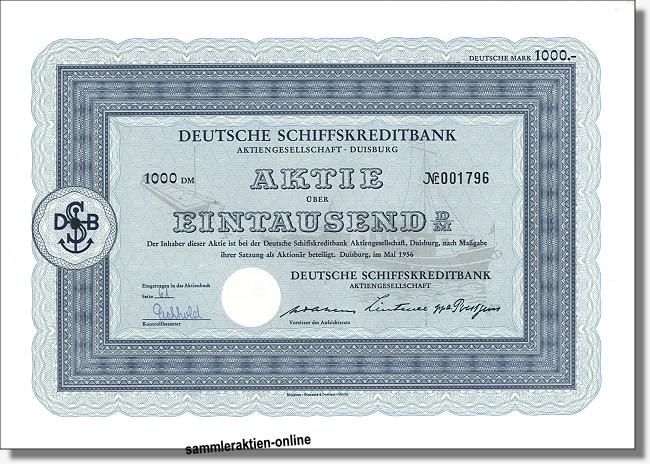 Deutsche Schiffskreditbank Aktiengesellschaft