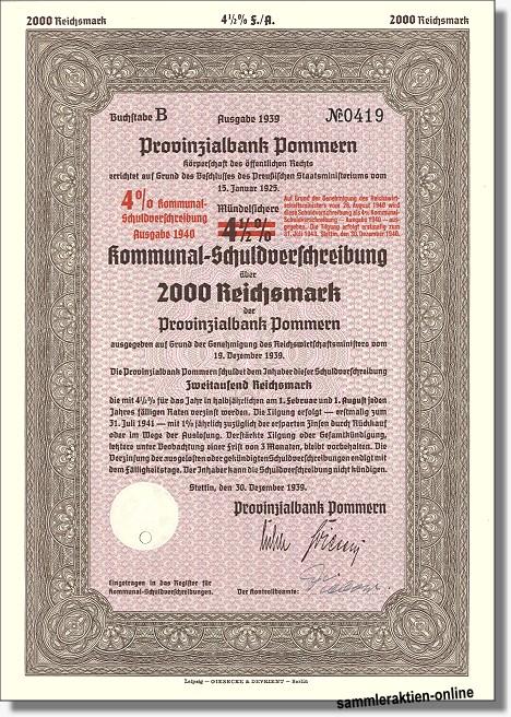 Provinzialbank Pommern