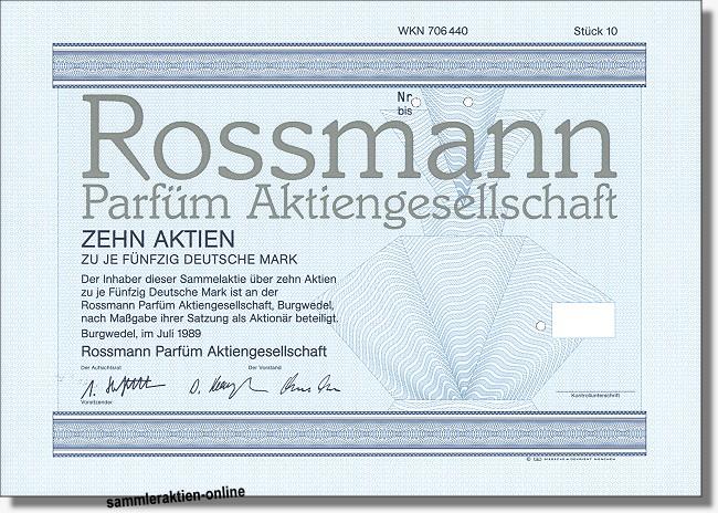 Rossmann Parfüm Aktiengesellschaft