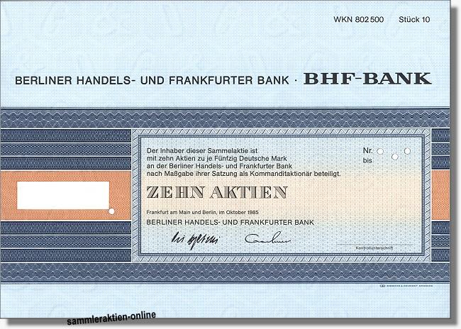 Berliner Handels- und Frankfurter Bank - BHF-Bank