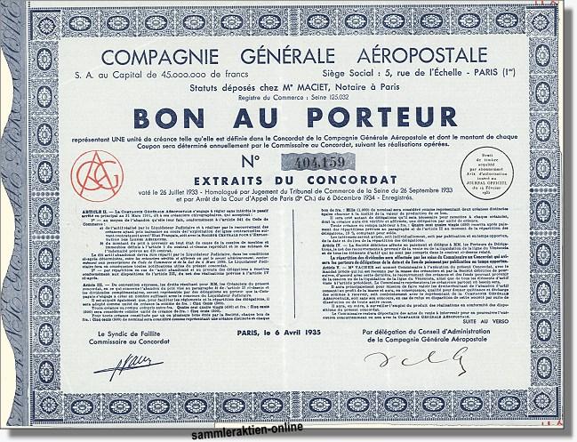 Compagnie Générale Aéropostale - Air France