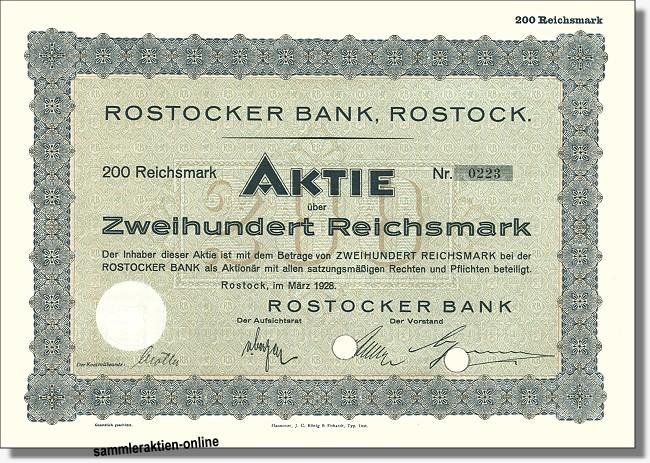 Rostocker Bank - Mecklenburger Bank