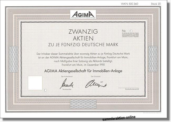 Agima, Aktiengesellschaft für Immobilien-Anlage - DZ-Bank