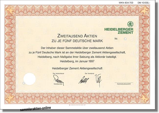 Aktie Heidelberger Zement