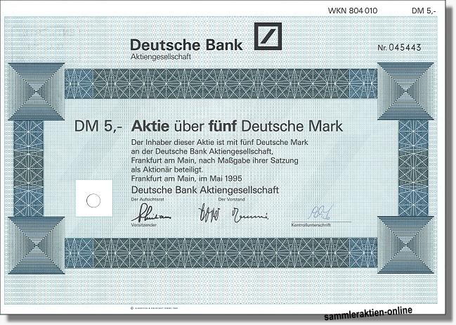 Aktien Der Deutschen Bank