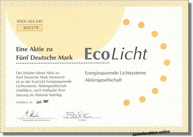 EcoLicht Energiesparende Lichtsysteme AG