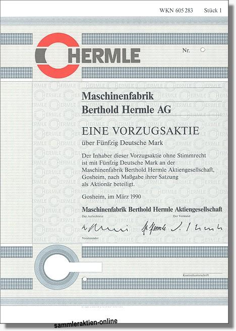 Maschinenfabrik Berthold Hermle AG
