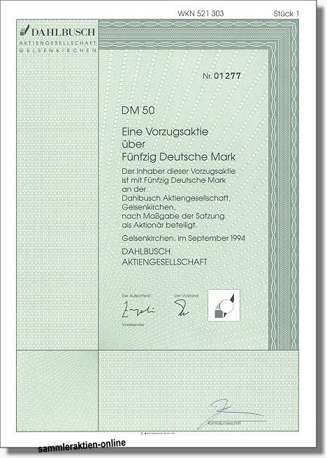 Dahlbusch Aktiengesellschaft