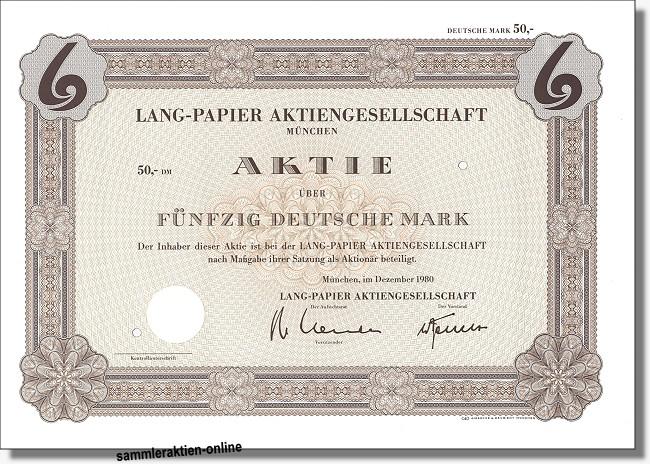 Lang-Papier Aktiengesellschaft