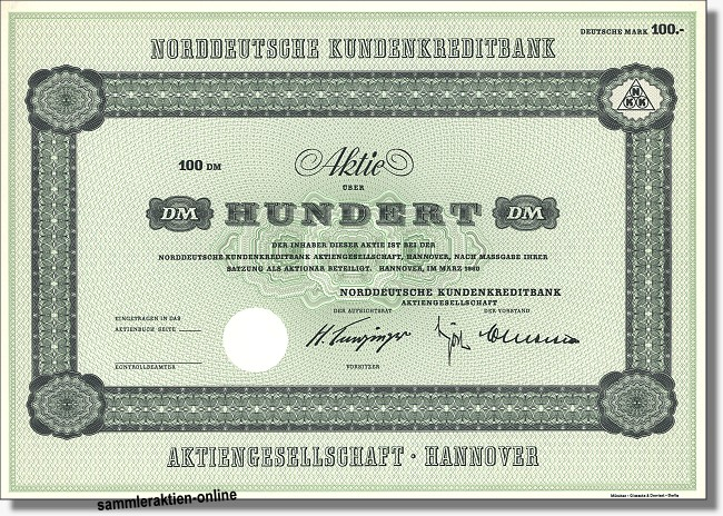 Norddeutsche Kundenkreditbank Aktiengesellschaft
