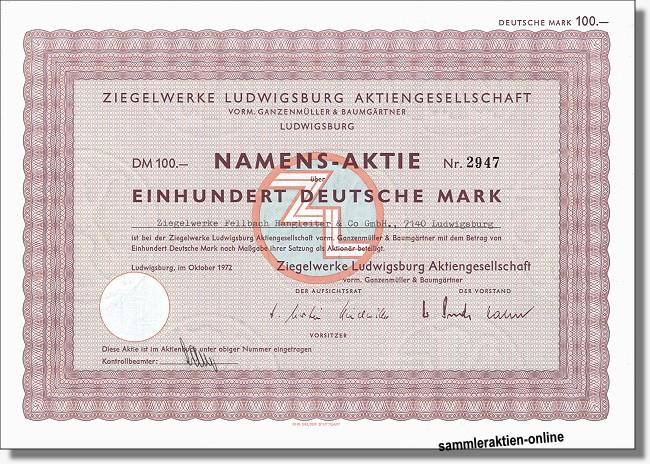 Ziegelwerke Ludwirgsburg AG vorm. Ganzenmüller & Baumgärtner