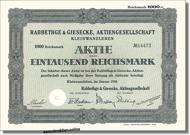 Rabbethge & Giesecke Aktiengesellschaft - KWS