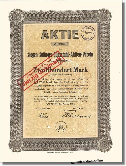 Siegen-Solinger Gussstahl-Aktien-Verein