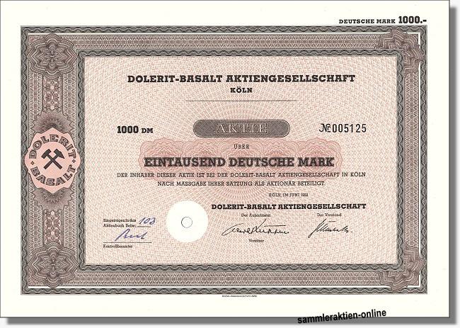 Dolerit-Basalt Aktiengesellschaft