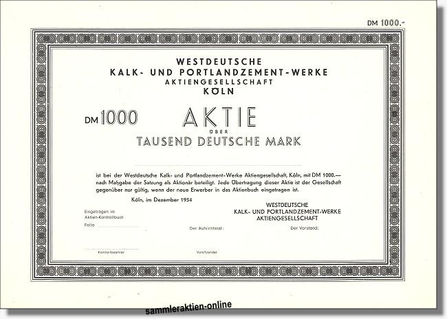 Westdeutsche Kalk- und Portlandzement-Werke AG