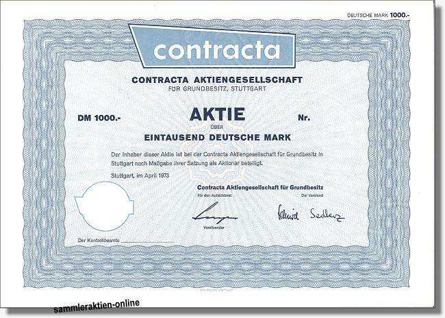 Contracta Aktiengesellschaft für Grundbesitz
