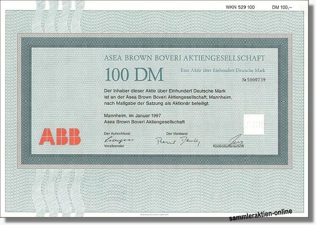 Asea Brown Boveri Aktiengesellschaft ABB