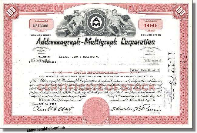 Addressograph-Multigraph Corporation