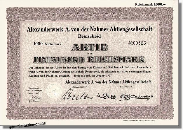 Alexanderwerk A. von der Nahmer AG