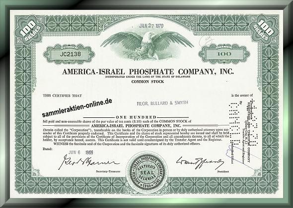 America-Israel Phosphate Company Inc.
