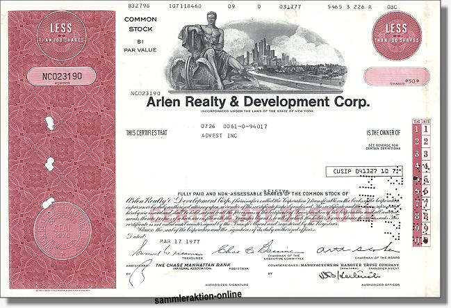 Arlen Realty & Development Corporation