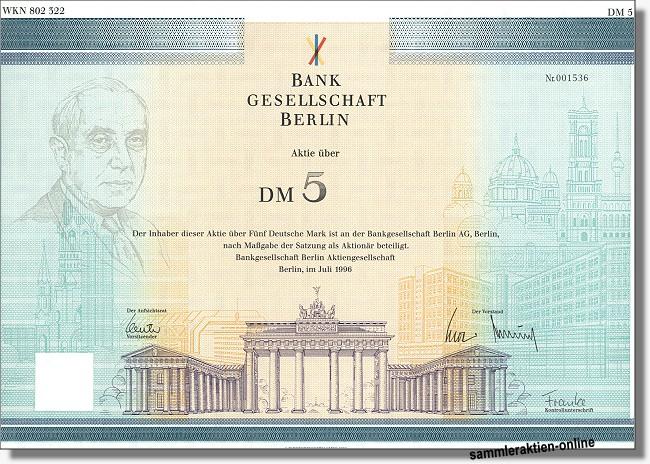 Bankgesellschaft Berlin AG