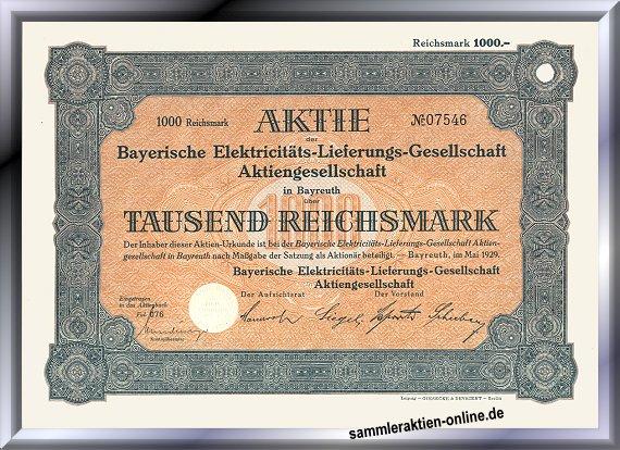 Bayerische Elektrizitäts-Lieferungs-Gesellschaft, heute E.ON