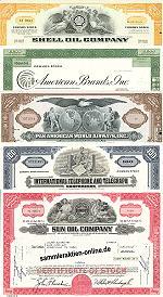 Geschenkset weltbekannte Firmen aus USA<br> Nr.1 - 5 div. Papiere