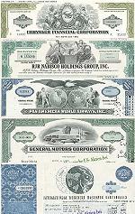Geschenkset weltbekannte Firmen aus USA<br> Nr.3 - 5 div. Papiere