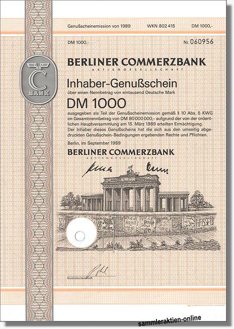 Berliner Commerzbank AG