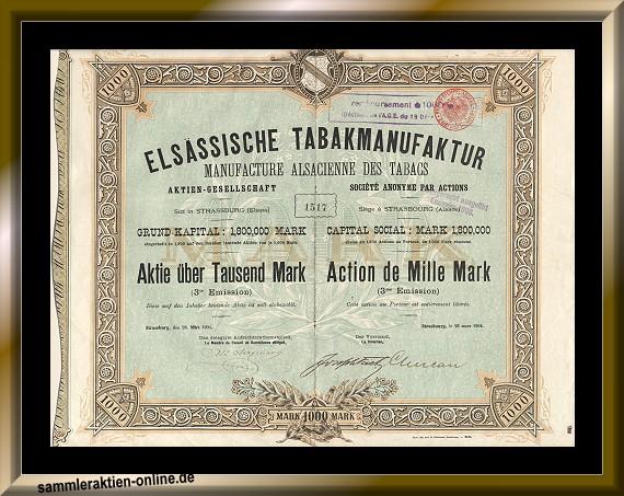 Elsässische Tabakmanufaktur