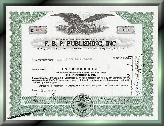 F. B. P. Publishing Inc.