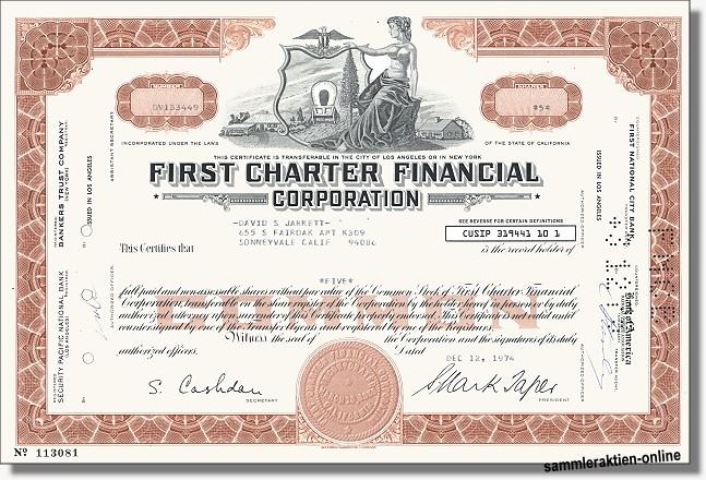 First Charter Financial Corporation