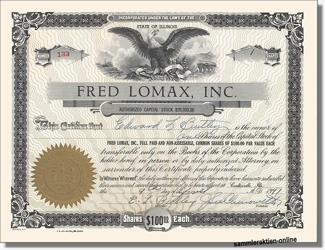 Fred Lomax Inc.