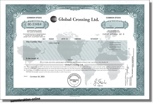 Global Crossing Ltd. - Level 3