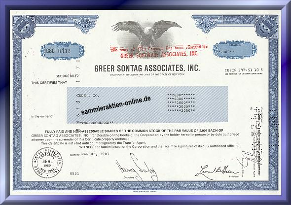 Greer Sontag Assiciates Inc.