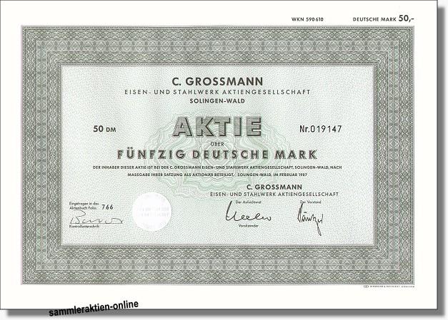 C. Grossmann Eisen- und Stahlwerk AG