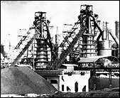 Mannesmann-Hüttenwerk in Huckingen, 1920er Jahre