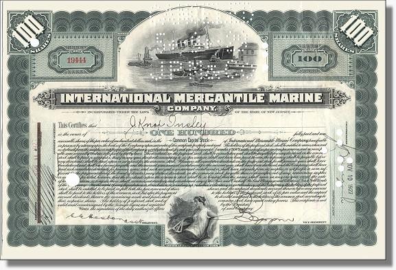 International Mercantile Marine - Titanic Aktie
