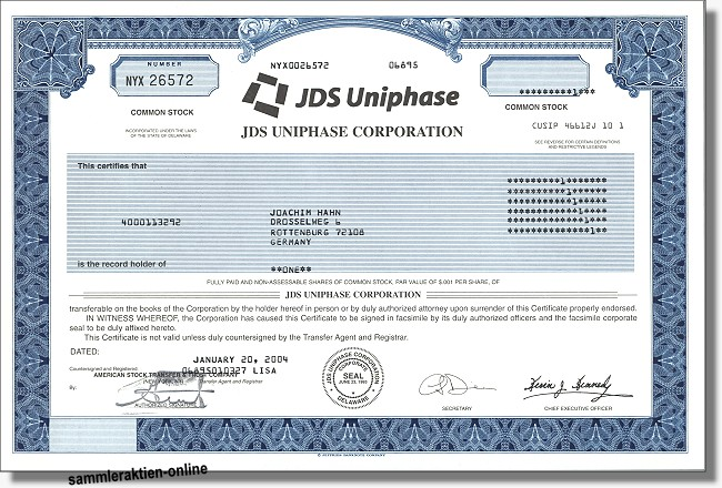 JDS Uniphase Corporation