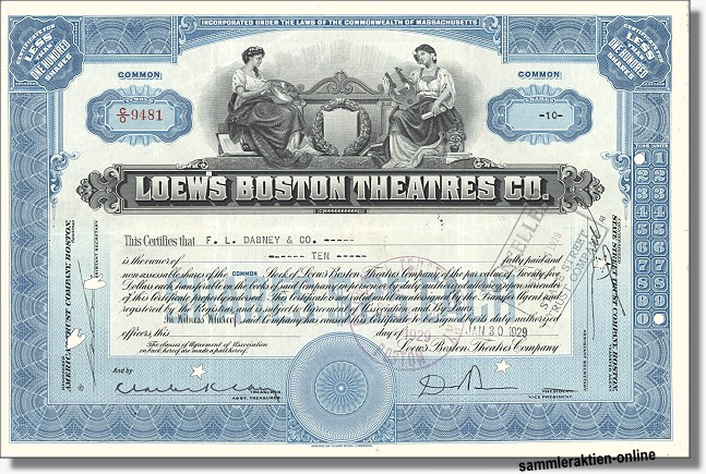 Loew's  Boston Theatres Inc.