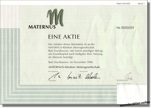 Maternus Kliniken Aktiengesellschaft