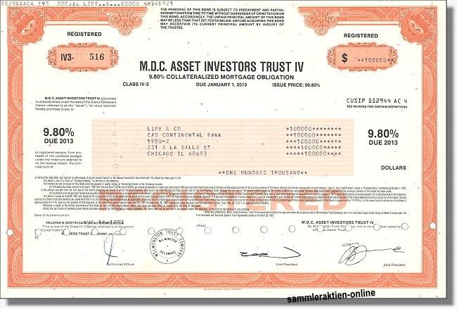 M.D.C. Asset Investors Trust