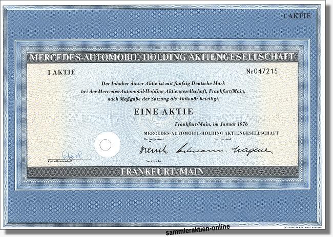 Mercedes-Benz Aktie
