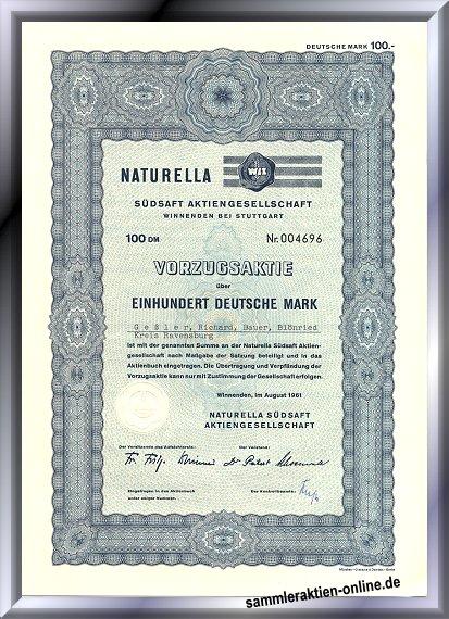 Naturella Südsaft Aktiengesellschaft - WLZ