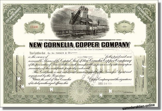 New Cornelia Copper Company