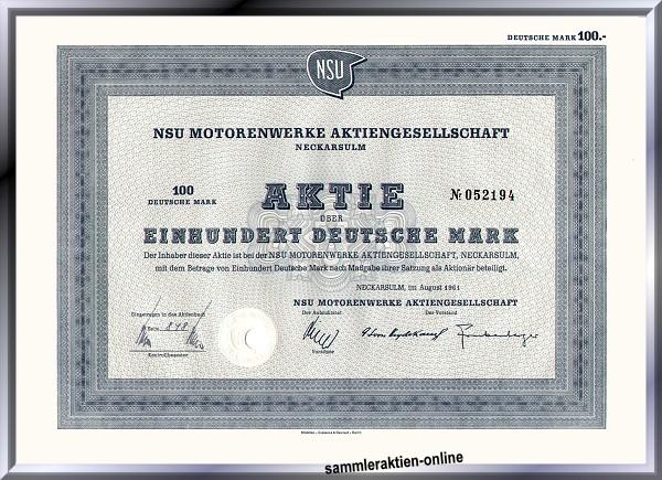 NSU Motorenwerke AG - Audi