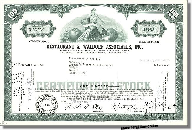 Restaurant & Waldorf Associates