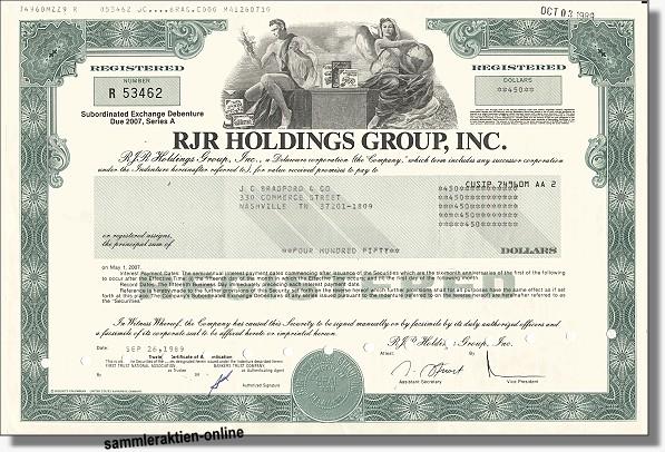 RJR Holdings Group Inc.