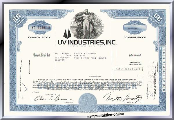 UV Industries, Inc.